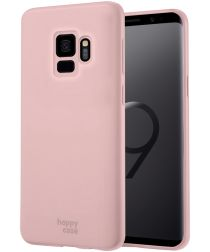 HappyCase Samsung Galaxy S9 Siliconen Back Cover Hoesje Roze