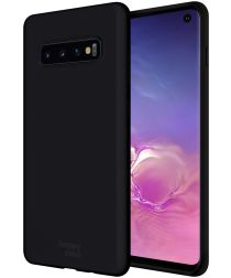 HappyCase Samsung Galaxy S10 Siliconen Back Cover Hoesje Zwart