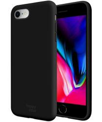 HappyCase Apple iPhone 7 / 8 Siliconen Back Cover Hoesje Zwart
