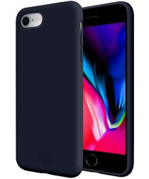 HappyCase Apple iPhone 7 / 8 Siliconen Back Cover Hoesje Donker Blauw