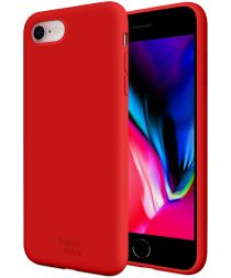 HappyCase Apple iPhone 7 / 8 Siliconen Back Cover Hoesje Rood