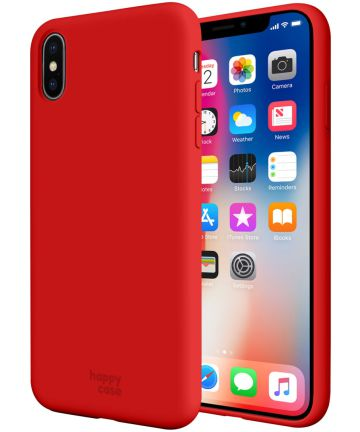 HappyCase Apple iPhone X(S) Siliconen Back Cover Hoesje Rood
