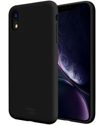 HappyCase Apple iPhone XR Siliconen Back Cover Hoesje Zwart