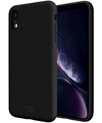 HappyCase Apple iPhone XR Hoesje Siliconen Back Cover Zwart Hoesjes