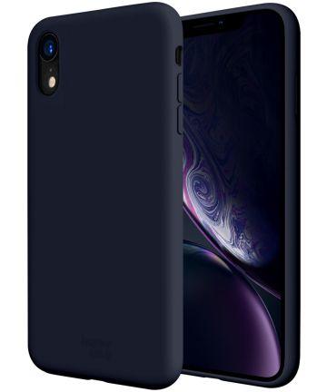 HappyCase Apple iPhone XR Hoesje Siliconen Back Cover Donker Blauw Hoesjes