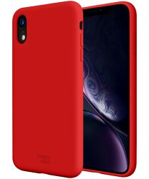 HappyCase Apple iPhone XR Hoesje Siliconen Back Cover Rood