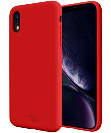 HappyCase Apple iPhone XR Siliconen Back Cover Hoesje Rood Hoesjes
