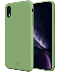HappyCase Apple iPhone XR Siliconen Back Cover Hoesje Mint Groen