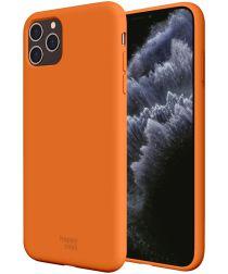 HappyCase Apple iPhone 11 Pro Siliconen Back Cover Hoesje Papaya