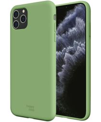 HappyCase Apple iPhone 11 Pro Siliconen Back Cover Hoesje Mint Groen
