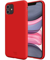 HappyCase Apple iPhone 11 Hoesje Siliconen Back Cover Rood