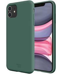 HappyCase Apple iPhone 11 Hoesje Siliconen Back Cover Groen