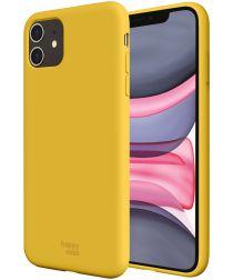 HappyCase Apple iPhone 11 Hoesje Siliconen Back Cover Geel