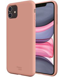 HappyCase Apple iPhone 11 Hoesje Siliconen Back Cover Donker Roze