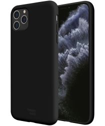 HappyCase iPhone 11 Pro Max Siliconen Back Cover Hoesje Zwart