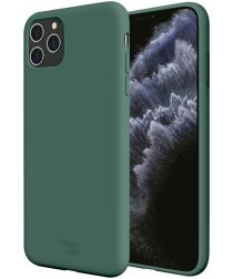 HappyCase iPhone 11 Pro Max Siliconen Back Cover Hoesje Groen