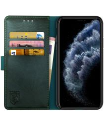 Rosso Element Apple iPhone 11 Pro Max Hoesje Book Cover Midnight Green