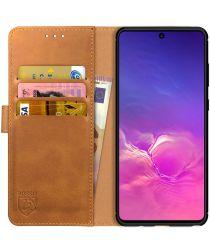 Rosso Element Samsung Galaxy S10 Lite Hoesje Book Cover Lichtbruin