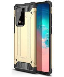 Samsung Galaxy S20 Ultra Hoesje Hybride Goud