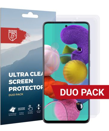 Rosso Samsung Galaxy A51 Screenprotector Ultra Clear Duo Pack Screen Protectors