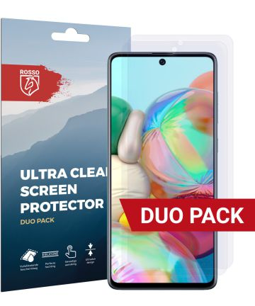 Rosso Samsung Galaxy A71 Ultra Clear Screen Protector Duo Pack Screen Protectors