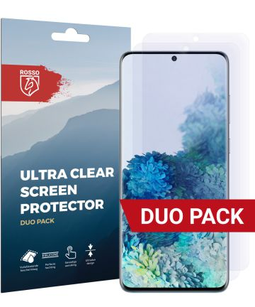 Rosso Samsung Galaxy S20 Plus Clear Screen Protector Duo Pack