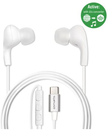 4Smarts Active In-Ear Stereo Headset Melody USB-C Wit Headsets