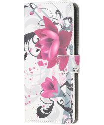Samsung Galaxy A71 Hoesje Portemonnee met Bloemen Print