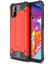 Samsung Galaxy A71 Hoesje Shock Proof Hybride Backcover Rood