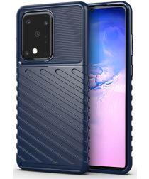 Samsung Galaxy S20 Ultra Hoesje TPU Thunder Design Blauw