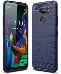 LG K40S Geborsteld TPU Hoesje Blauw