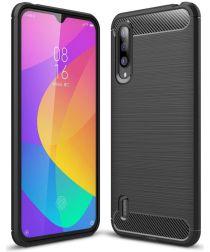 Xiaomi Mi 9 Lite Geborsteld TPU Hoesje Zwart
