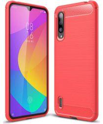 Xiaomi Mi 9 Lite Geborsteld TPU Hoesje Rood