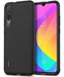 Xiaomi Mi 9 Lite Twill Slim Texture TPU Hoesje Zwart
