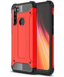 Xiaomi Redmi Note 8 Hybride Armor Hoesje Rood