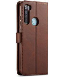 Xiaomi Redmi Note 8 Portemonnee Met Stand Bookcase Hoesje Bruin