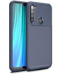 Xiaomi Redmi Note 8 Siliconen Carbon Hoesje Blauw