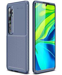 Xiaomi Mi Note 10 (Pro) Siliconen Carbon Hoesje Blauw