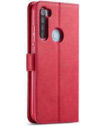 Xiaomi Redmi Note 8T Stand Portemonnee Bookcase Hoesje Roze