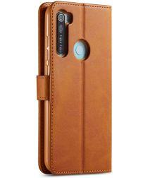 Xiaomi Redmi Note 8T Stand Portemonnee Bookcase Hoesje Bruin
