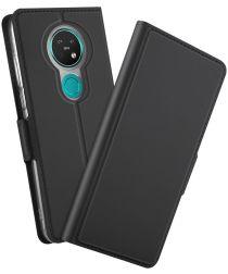 Nokia 7.2 Portemonnee Stand Hoesje Zwart