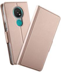Nokia 7.2 Portemonnee Stand Hoesje Roze Goud