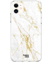 HappyCase Apple iPhone 11 Hoesje Flexibel TPU Wit Marmer Print