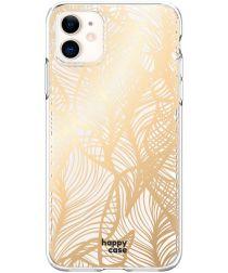 HappyCase Apple iPhone 11 Hoesje Flexibel TPU Golden Leaves Print