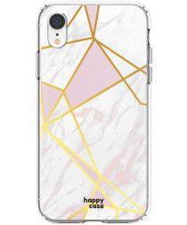 HappyCase Apple iPhone XR Hoesje Flexibel TPU Roze Marmer Print