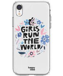 HappyCase Apple iPhone XR Hoesje Flexibel TPU Quote Print