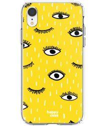 HappyCase Apple iPhone XR Hoesje Flexibel TPU Happy Eyes Print