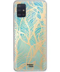 HappyCase Samsung Galaxy A51 Hoesje Flexibel TPU Golden Leaves Print