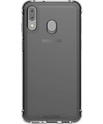 Origineel Samsung Galaxy M20 Hoesje Araree TPU Transparant / Zwart