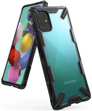 Ringke Fusion X Samsung Galaxy A51 Hoesje Transparant/Zwart
